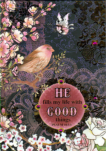 Journal He Fills My Life With Good Things Psalm 103 Vs 5 96689 Book Icm Books