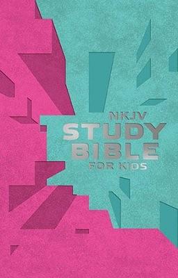 NKJV Study Bible for Kids,Pink/Teal Imitation Leather