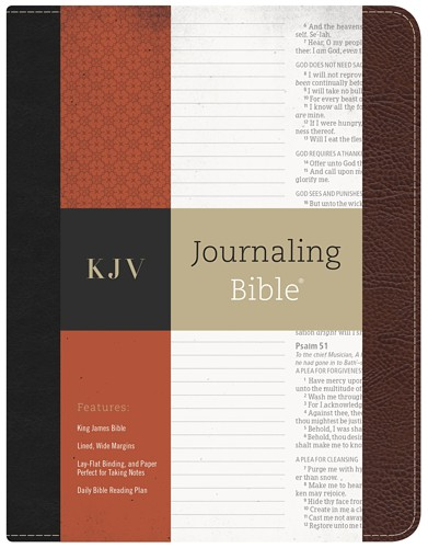 KJV Journaling Bible Black/Brown Bonded Leather