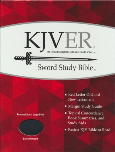 KJVer (Easy Reader) Large Print Sword Study Bible, Personal Size, Ultrasoft  Black