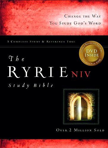 NIV Ryrie Study Bible, Black Bonded Leather