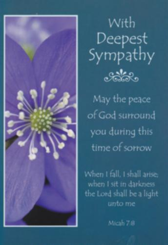 With Deepest Sympathy With KJV Text