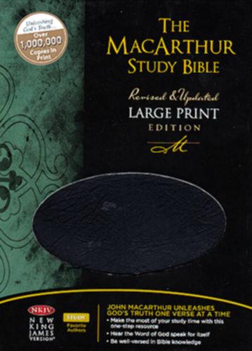 Nkjv Macarthur Study Bible Large Print Black Bonded