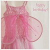 Card - Happy Birthday, Pink Dress with NIV Scripture Text