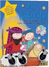 My Nativity Colouring Book with Press out Pieces & Over 100 Stickers - CMS