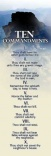 Bookmark - Mt. Sinai and the Ten Commandments, Pack of 25