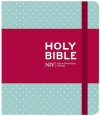 NIV Journalling Mint Polka Dot Cloth Bible