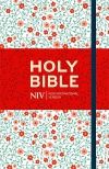 NIV Thinline Floral Cloth Bound Bible