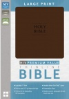 NIV Premium Value Thinline Bible, Large Print Chocolate