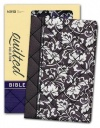 NIV Compact Quilted Black Floral Flexicover