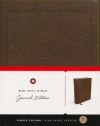 KJV Journal Edition Bible, Brown Bonded Leather