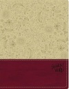 KJV Beautiful Word Bible, Taupe/Berry, Soft Leatherlike