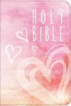 NLT Shimmery Pink Canvas Zips Bible