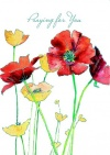 Praying for You Card - Poppies