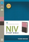 NIV Study Bible, Berry Creme & Chocolate Thumb Indexed