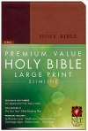NLT Premium Value Large-Print Slimline Bible, Brown/Tan