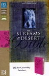 NIV Streams in the Desert Bible, Raspberry Italian Duo-Tone