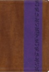 ESV Giant Print Bible Brown/Purple Iris Design, TruTone