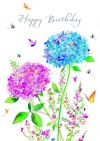 Birthday Card, Hydrangeas
