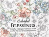 Colorful Blessings, Adult Coloring Cards, Box of 44