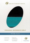 ESV Personal Reference Soft Leather-look, Dark Brown / Teal Band