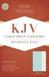 KJV Large Print Ultrathin Reference Indexed, Mint Green Leathertouch