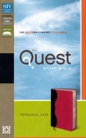 NIV Quest Study Bible, Personal Size, Charcoal & Pink Imitation Leather