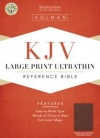 KJV Large Print UltraThin Reference Bible, Chocolate/Brown Leathertouch