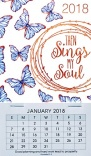 2018 Then Sings My Soul, Mini Magnetic Calendar