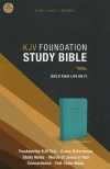 KJV Foundation Study Bible, Rich Turquoise, Imitation Leather