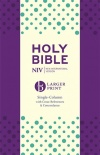 NIV Larger Print Compact Single Column Reference - Purple
