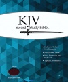 KJV Giant Print Sword Study Bible, Burgundy Genuine Leather