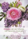 Card - Friends are Like Flowers, They Brighten Your Day, Single Card