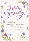 Card - With Sympathy; I Will Not Leave You Comfortless, Single Card