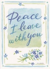 Card - Peace I Leave With You, Single Sympathy Card