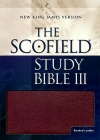 NKJV Scofield Study Bible III, Burgundy Bonded Leather, Indexed