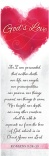 Bookmark - God's Love - Pack of 25