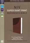 NIV Super-Giant Print Reference Bible, Brown Soft Leather-Look