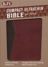 KJV Compact Ultrathin Bible for Teens, Walnut LeatherTouch