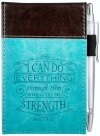 I Can Do Everything, Notepad and Pen, Aqua Blue