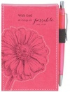 With God, All Things Are Possible Notepad - Pink