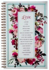 Love Is Wirebound Notebook - 1 Corinthians 13:4-7