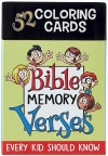 Coloring Cards for Kids: Bible Memory Verses - Box Set of 52