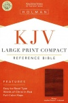 KJV Large Print Compact Reference Bible, Brown Cross LeatherTouch, Indexed