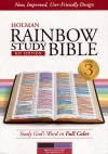 KJV Holman Rainbow Study Bible, Brown & Lavender Leather-Touch