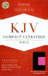 KJV Compact Ultrathin Bible, Brown & Pink Leathertouch with Magnetic Flap