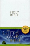 NIV Gift & Award Bible, White Leather-Look - GAB