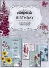 Birthday Premium Cards - Floral Impressions  (Box of 12)