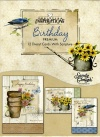 Birthday Premium Cards - Rustic Garden  (Box of 12)