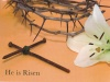 Easter Cards - He is Risen, Cross of Nails  (Pack of 5)